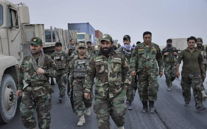 نیروهای امنیتی در غزنی